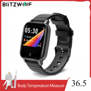 BlitzWolf BW-HL1T Smart Watch Heart Rate Themometer Training Smarwatch